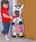 KIDS VERSATILE HANGING ZEBRA STORAGE CLUTTER BAG