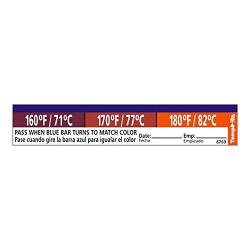 - Taylor Precision 8769 TempRite Adhesive Dishwasher Label - 27 / PK