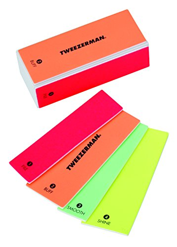 Price comparison product image Tweezerman Neon Hot 4-in-1 File, Smooth & Shine Block