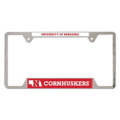 WinCraft NCAA University of Nebraska Metal License Plate Frame