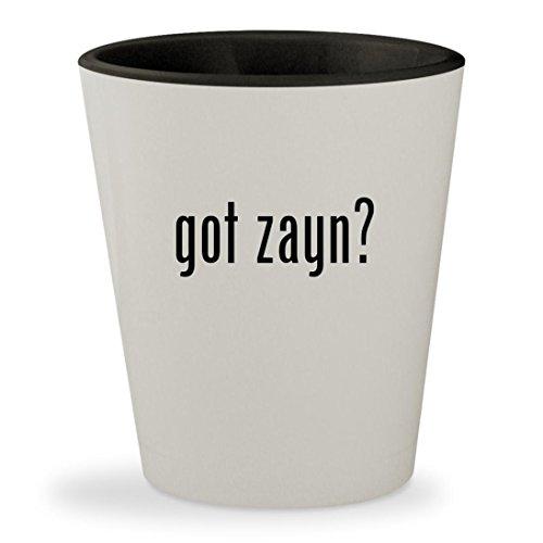 got zayn? - White Outer & Black Inner Ceramic 1.5oz Shot Glass