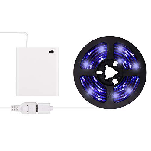 Battery Powered Blacklight - UV Black Light LED Strip -