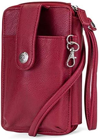 Jacqui Leather Womens Crossbody Holder product image