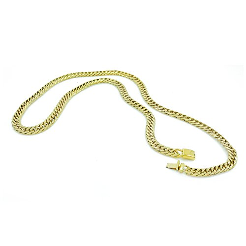 f8986b1d24905 Mens Thick Tight Link Yellow Gold Finish Miami Cuban Link Chain/Bracelet  Box Lock JayZ 9mm (Chain 20'')