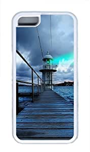 iPhone 5C Case Cover - Sydney Lighthouse View TPU Back Case for Apple iPhone 5C - White