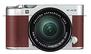 "Fujifilm X-A3 BW - Cámara Evil de 24 MP (Pantalla táctil de 3"", Obturador electrónico, Video Full HD, WiFi) marrón - Kit Cuerpo con Objetivo XC 16-50 mm"