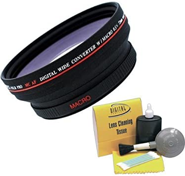 Nwv Direct 5 Piece Cleaning Kit Digital Video .5X 72mm Wide Angle Lens for Canon XH A1