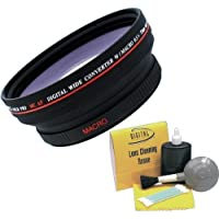 Digital Video .5x 72mm Wide Angle Lens for Canon XH A1 + Nwv Direct 5 Piece cleaning Kit