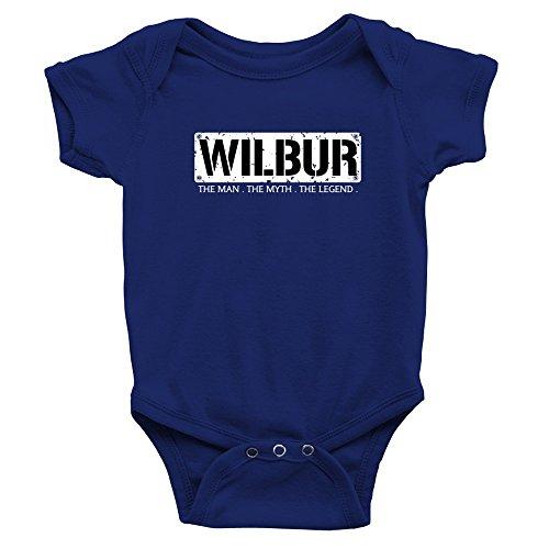 Teeburon Wilbur The Man The Myth The Legend Baby Bodysuit (Myth Toddler Apparel)