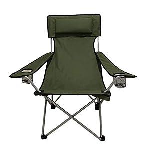 41wJ30y9rML. SS300 HOMECALL Camping-Klappstuhl, Armlehnen mit Becherhalter - Grün