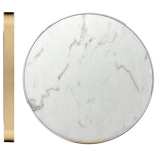 POWR Fast Wireless Charging Pad | Real Marble | 10W True Fast Charge 3.0 Charging Station for Samsung Galaxy S10/S10+/S9/S9+/S8/S8+/S7 Edge, Samsung Note 9/8, Apple iPhone Xs Max/XR/XS/X/8 and More!