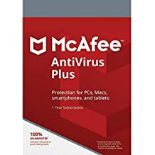 Mcafee 2018 Antivirus Plus 3 Devices 1 Year, Delivery on same day via Amazon Message - Download software link and Activation key -