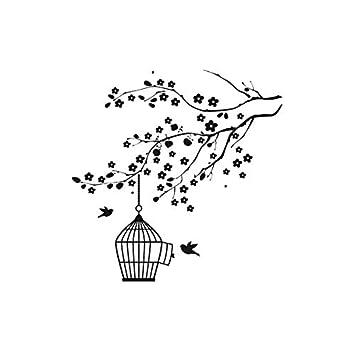 Plantilla reutilizable de pájaros en jaula de árbol, tamaño A3, A4 ...