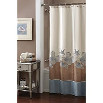 Croscill Shells Ashore Shower Curtain 70 By 72 Inch Natural