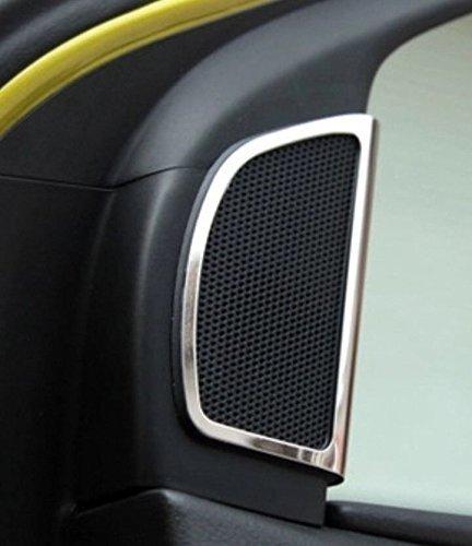 Emblema Trading altavoz Medio Consola salpicadero embellecedor verkleidung Marco de plástico ABS cromado Auto accesorios: Amazon.es: Coche y moto