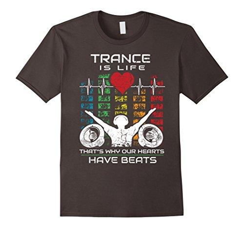 Mens Trance Music Retro Vintage DJ Gift T-Shirt Medium Asphalt (T-shirts Trance Music)
