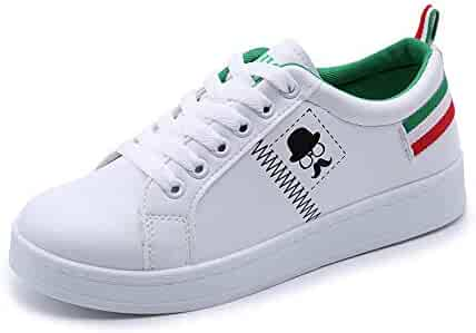 HTHJSCO Womens Fashion PU Heightening Sneakers Walking Shoes Fitness Sports Soft Thick Bottom Rocking Shoes