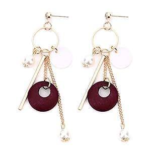 slowsilent 1par Borla de Fashion carcasa Circle anillo aro pendientes joyería regalo para las mujeres dama niñas