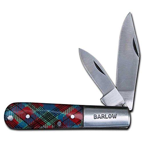 Barlow Two Blade Folding Pocket Knife - Scottish Tartan Handle