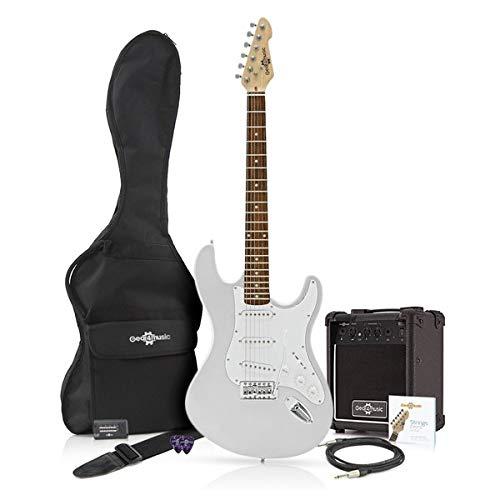 Guitarra eléctrica LA + Paquete de Amplificador de 10 W Plata: Amazon.es: Instrumentos musicales
