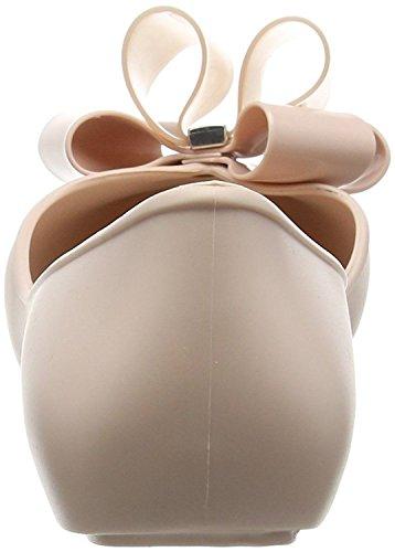 Zaxy Link Twin Bow Nude Donne Ballerine Flats Scarpe