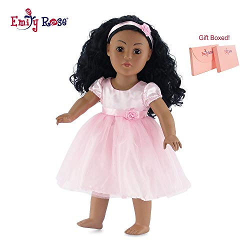 Emily Rose 18 Inch Doll Clothes | Lovely Pink Doll Easter Dress, Includes Matching Rosette Headband | Fits 18 American Girl Dolls