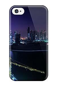 Unique Design Iphone 4/4s Durable Tpu Case Cover Downtown Nights Dubai