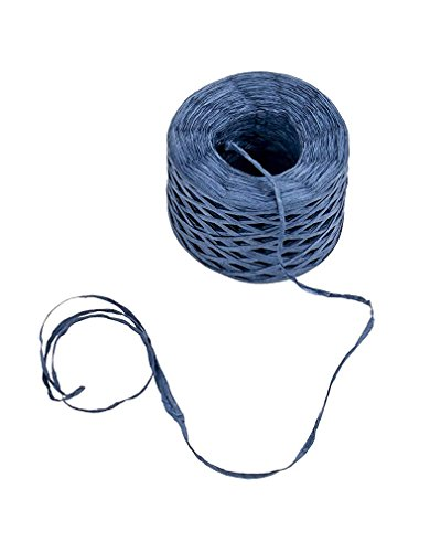 Raffia Ribbon - Paper Ribbon, Natural Raffia Twine String Ribbon for Craft, Packing, Wrapping Gifts, Blue, 200-Yard