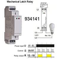 Memory and Latching Relay, Mechanical Retentive Status, 12V, 24V, 110V 120V, 240V, 16A SPDT DIN