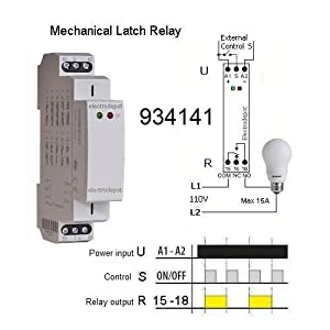 amazon.com: memory and latching relay, mechanical ... 110v relay wiring iec 19 110v outlet wiring diagram #12