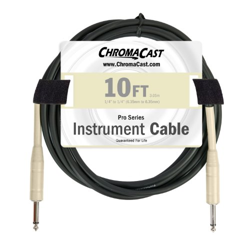 ChromaCast Pro Series Cables CC-PSCBLSS-10VC Vanilla Cream 10-Feet Pro Series Instrument Cable, Straight - Straight