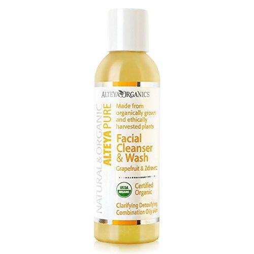 Alteya Organic jabón líquido limpiador facial y lavado 150ml - jazmín puro - con certificado organico USDA, jabуn biodegradable - producto natural limpiador ...