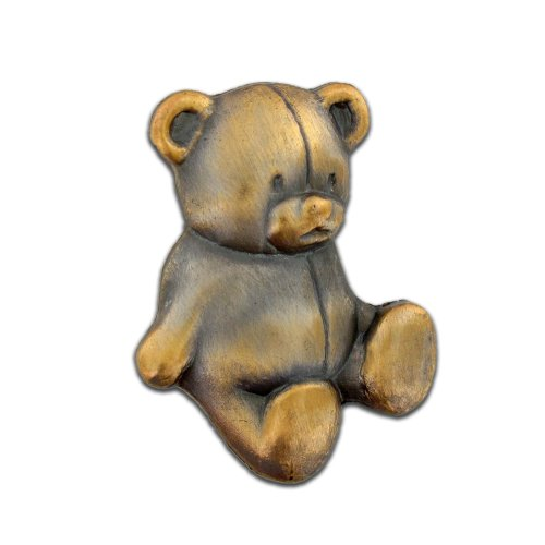 hot PinMart's Antique Gold Teddy Bear Stuffed Animal Lapel Pin for cheap