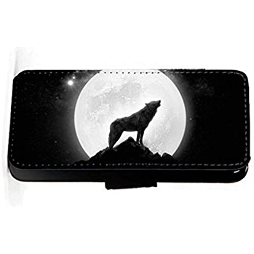 wolf moon black and white faux PU leather wallet mobile phone case cover for Samsung Galaxy S7 Edge Sales