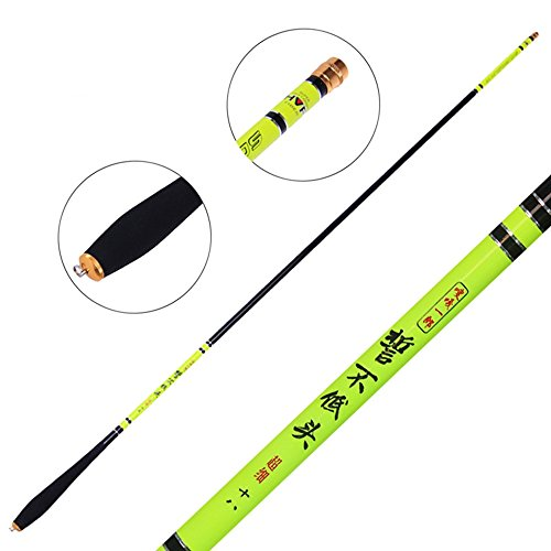 Cheap GUAITAI Light Carbon Fiber Telescopic Fishing Rods Travel Fishing Pole 2.7-5.4m (green 5.4m)