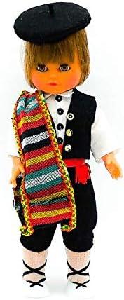 Amazon.es: Folk Artesanía Muñeco Regional colección de 35 cm con Vestido típico Manchego Castilla la Mancha España.: Juguetes y juegos