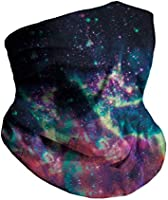 INTO THE AM Seamless Face Cover Mouth Mask Scarf Bandanas Neck Gaiter - Dust & UV Sun-Protection for Festivals and Outdoors