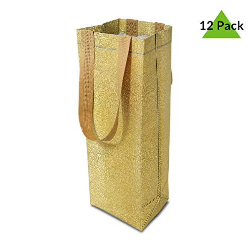 12 Premium Quality Reusable Wine Gift Bags with Sturdy Handles and Tags Perfect for Party Favours Weddings House Warming Gift 5
