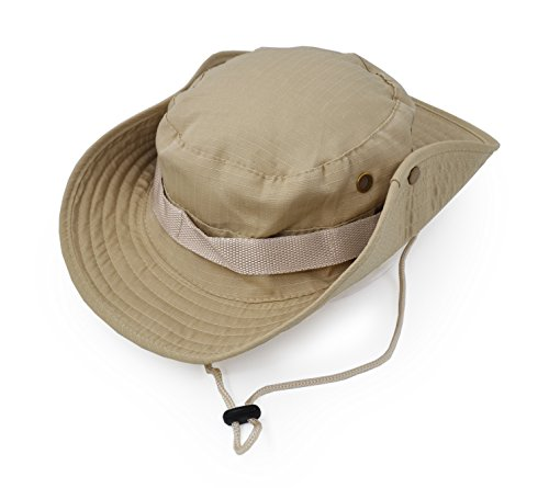 Outdoor Wide Brim Sun Protect Hat, Classic US Combat Army Style Bush Jungle Sun Cap for Fishing Hunting Camping 1