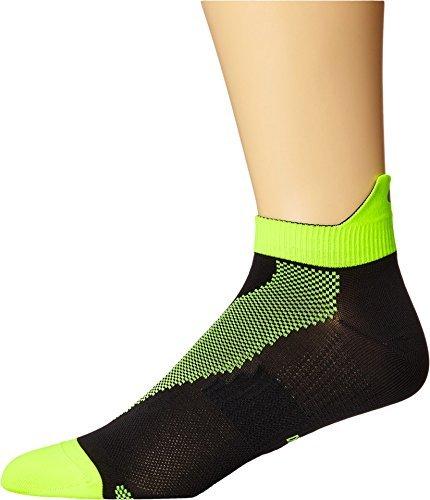 Nike Elite Run Lightweight No-Show Socks Black/Volt/Volt, 14.0-16.0
