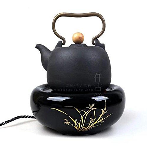 Tetera eléctrica especial de cerámica crisol crisoles Hervido patrón de té de agua Silenciar bambú Té casero bandeja Accesorios: Amazon.es: Hogar