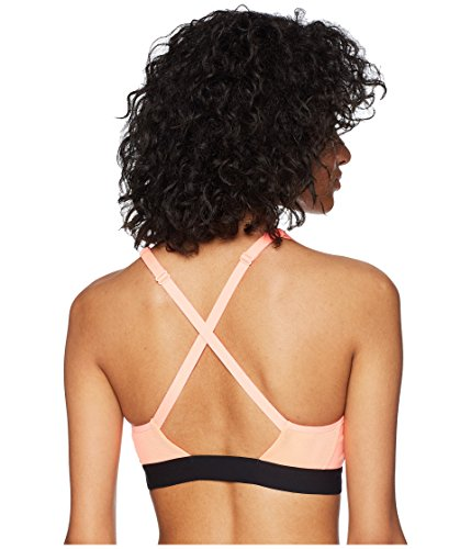 NIKE Women's Classic Strappy Sports Bra (Crimson Pulse/Black, XS) by Nike (Image #3)
