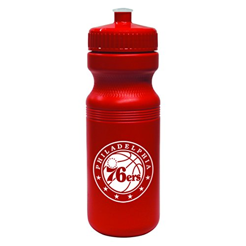 NBA Philadelphia 76ers Opaque Squeeze Water Bottle, 24-ounce by Boelter Brands