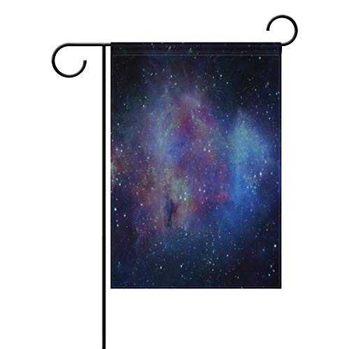 Garden Flag Space Galaxy Double Sided Festival Holiday Decoration for Outdoor Family Party 12 x 18 Inch -