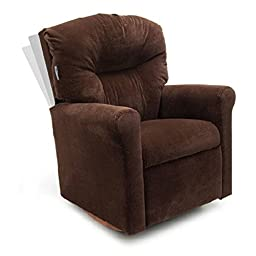 Dozydotes Contemporary Kid Rocker Recliner - Microsuede
