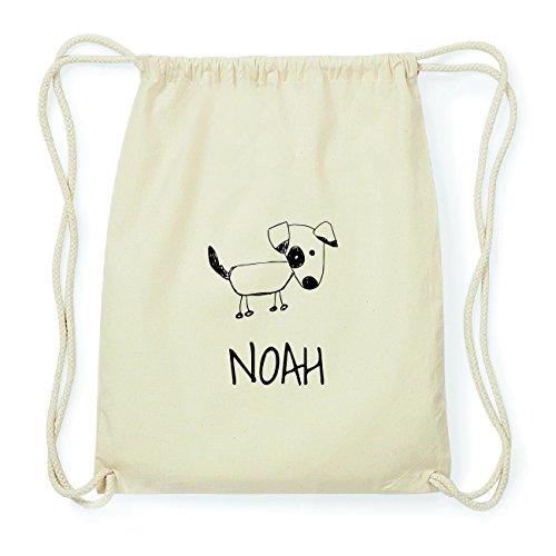 JOllipets NOAH Hipster Turnbeutel Tasche Rucksack aus Baumwolle Design: Hund