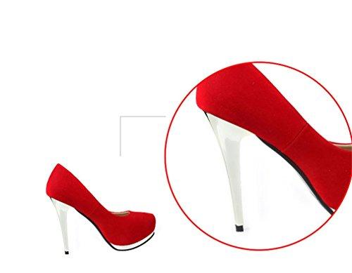 Xianshu Metal Nightclub Boca Shoes High Flowers Rouge Chaussures Shawow Heel AUAqwHrCx