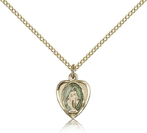 Miraculous Pendants Gold Plated Miraculous Pendant Including 18 Inch Necklace