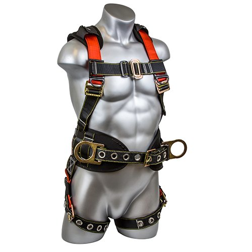 - Guardian Fall Protection 11173 M-L Seraph Construction Harness with Side D-Rings