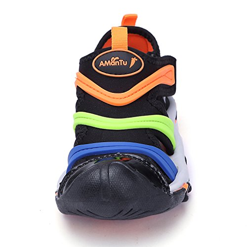 Pictures of BTDREAM Boy's and Girl's Sports Black Orange US Little Kid 1.5 3